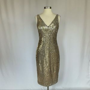 Vince Camuto Sequined Sheath Cocktail Dress